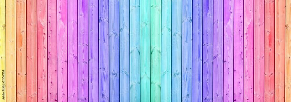 Fototapeta fond lames bois coloré lasuré