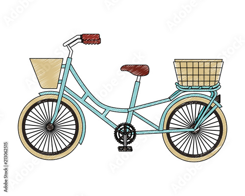 In de dag Fiets classic bicycle with basket recreation