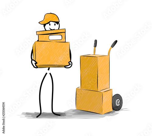 Cuadros en Lienzo déménagement transport de cartons