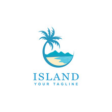 Beach And Island Logo Design, ...