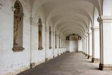 Arcade Of Colonnade In Flower Garden Of Kromeriz