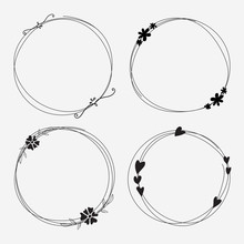 Vector Set Of Dividers Round F...