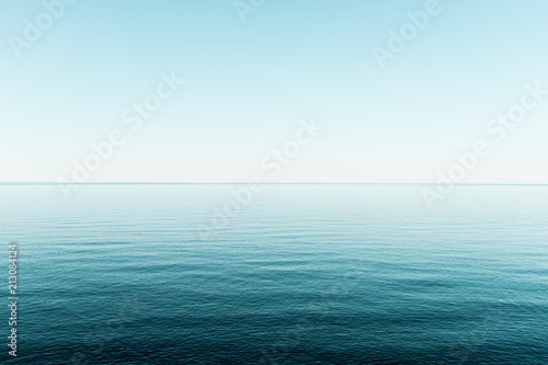 Pozioma woda i niebo