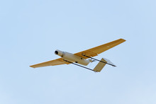 Surveillance Drone Prototype Flying In A Test Session