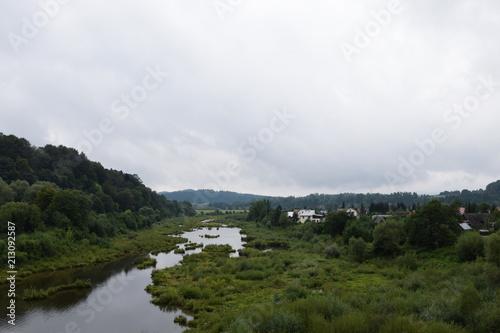 Keuken foto achterwand Grijze traf. San river near Solina-Myczkowce dam. Bieszczady Mountains. Myczkowce,Poland.