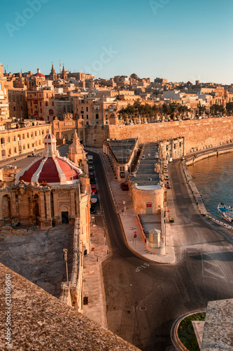 Valetta at early morning