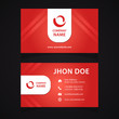 Presentation Card Red and Light Stripes