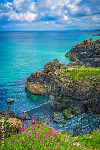 Poster Cote Stunningly beautiful Cornish sea coast