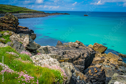 Staande foto Kust Stunningly beautiful Cornish sea coast