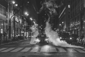 New York Taxi Street at Night