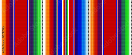 Stoffe zum Nähen Blanket stripes seamless vector pattern. Background for Cinco de Mayo party decor or ethnic mexican fabric pattern with colorful stripes. Serape gesign