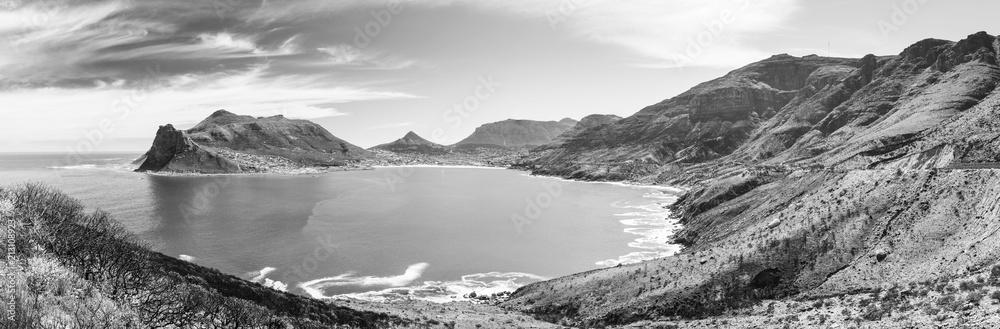 Fototapeta Hout Bay Panorama Black and White