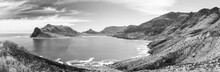 Hout Bay Panorama Black And White