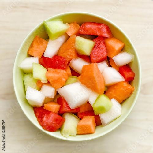 cut melon pieces