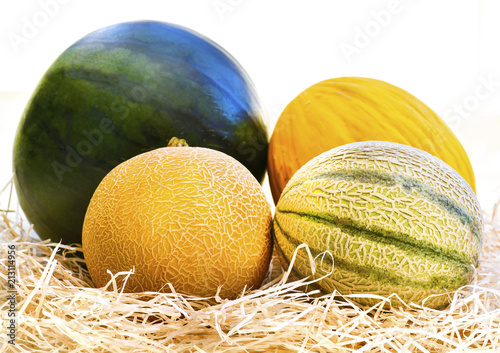 group of assorted melons