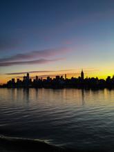Silhouette Of The Manhattan Sk...