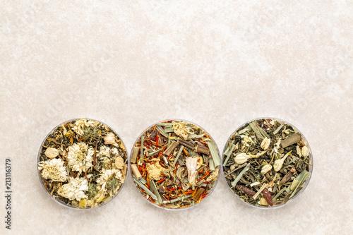 Chinese herbal blend tea collection Lerretsbilde