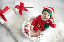 Cute Little Baby Wearing Chris...