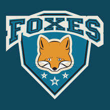 Fox Logo Sport. Sport Wear Typography Emblem, Graphics For T-shirt Or Other Uses.