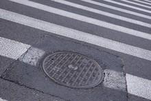 Pedestrian Crossing With Manho...
