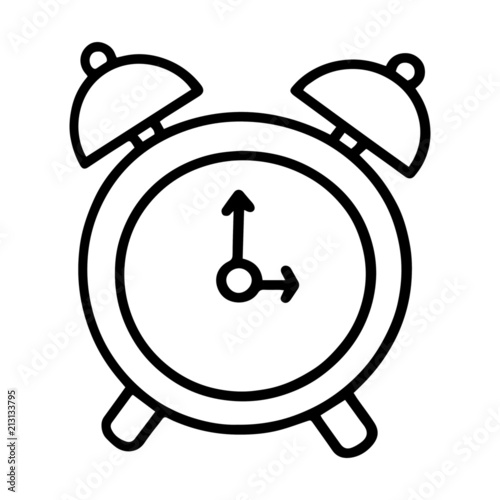 Cute Clock Cartoon Illustration Isolated On White Background For