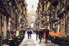 Regentage In Palermo Auf Sizil...
