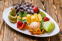 Fruits On A White Plate
