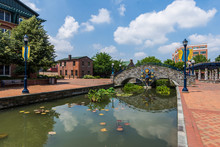 Historic Building In Downtown Frederick Maryland In The Corroll Creek Promenade