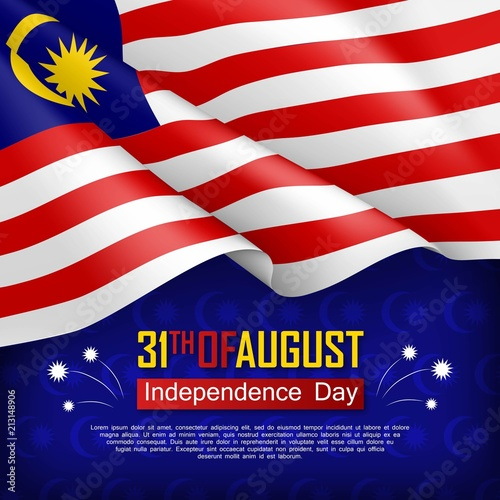 Fotografía  Festive illustration of Independence day of Malaysia