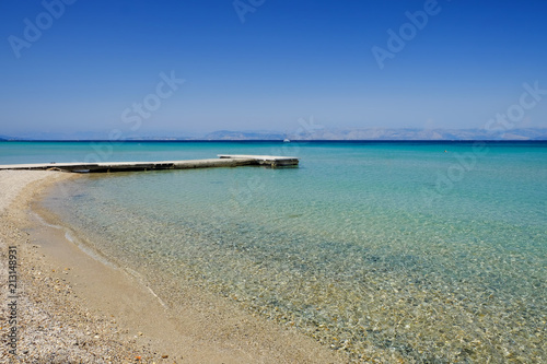 Obraz na plátně Sea view in Moraitika Corfu Greece