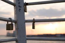 大阪南港の南京錠