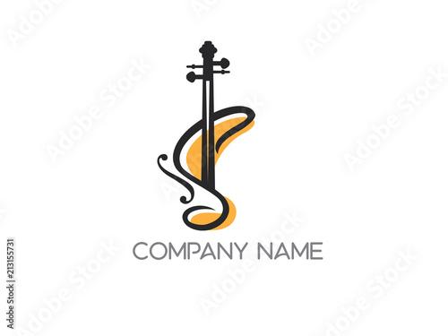 Obraz na plátně violin logo