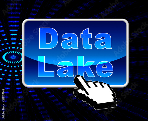 Data Lake Digital Datacenter Cloud 3d Illustration Canvas Print