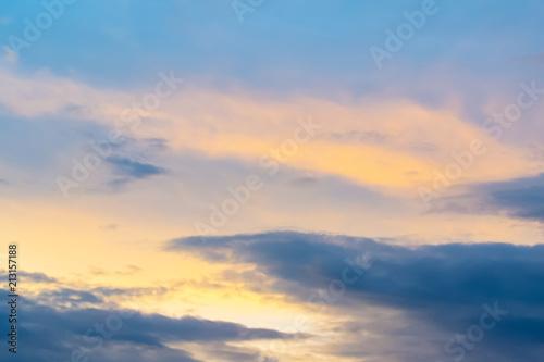 Fototapeta  Beautiful light from the nature at sunset every day. obraz na płótnie