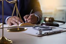 Law Gavel Stethoscope Health C...