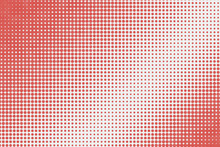 Abstract Red Dots Pattern With...