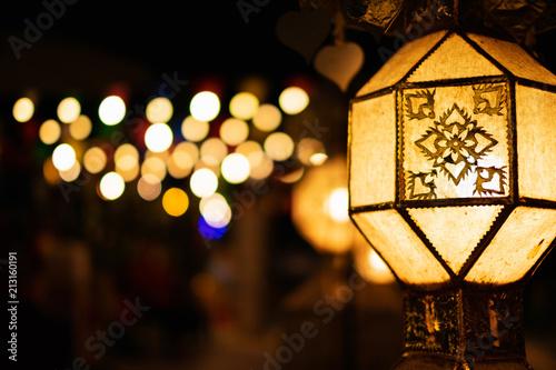 Thailand Yi Peng Lantern (Yes peng festival) hanging celebrate in