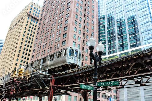 Foto op Canvas Amerikaanse Plekken USA - Chicago metro