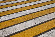 Yellow And White Road Marking ...