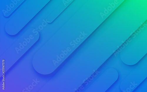 Abstract Color Pattern Of Neon Blue Liquid Gradient Lines
