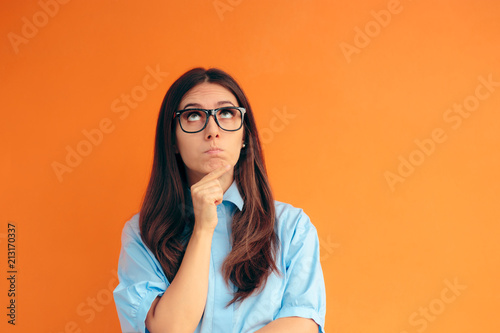 Fotografie, Obraz  Smart Girl Thinking and Making Strategies