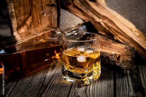 Vintage photo of bourbon bourbon whiskey Wallpaper Mural