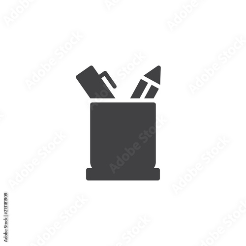 Obraz na plátně  Pencil holder vector icon