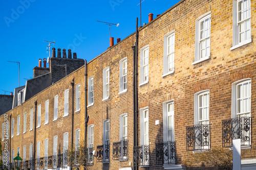 Plakat  Brick terrace houses around Chelsea in London
