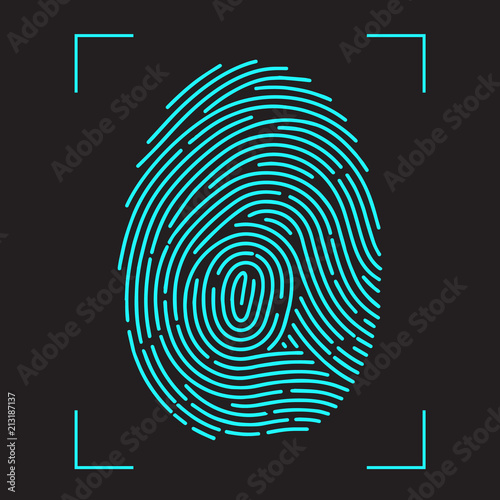 Obraz Finger-print Scanning Identification System. - fototapety do salonu