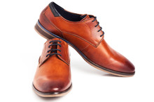 Brown Oxford Shoes Isolated On...
