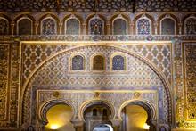 SEVILLE, SPAIN: Real Alcazar In Seville. Detail In Real Alcazar