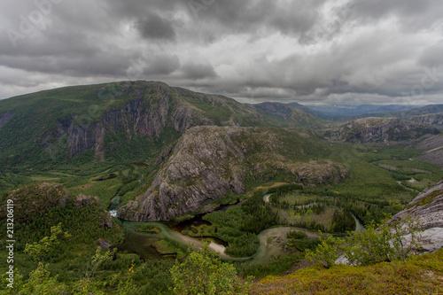 Poster Donkergrijs Norway Scandinavia National Park