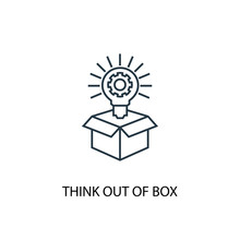 Think Out Of Box Concept Line ...