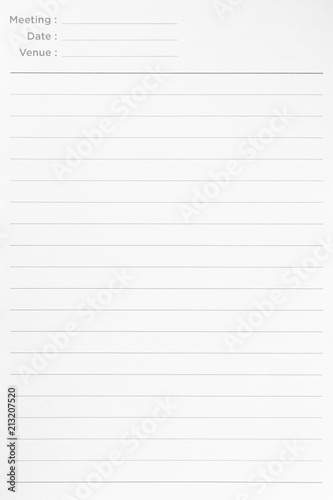 Notebook Lined Paper Background Or Texture Buy This Stock